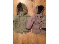 Two boys coats age 18-24 months