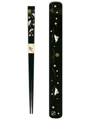 Black Japanese Travel Chopsticks with Case Bunny S-3685
