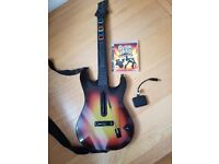 Playstation 3 with Guitar Hero Dongle and Straps complete in box