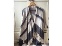 Stripe wrap/large shawl