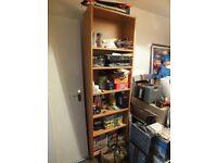 Ikea Brown Wood Veneer Bookcase
