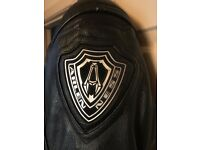 Genuine Leather Branded Bikers Jacket