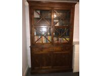 Hardwood Display Cabinet /Bookcase