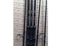 Shimano alivio 12ft 3lb carp rods x3
