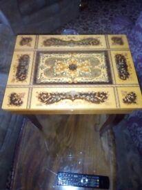 Music box table.