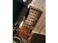 2 OLD 1950's Beer Crates BULLARDS ideal wine store rack over Christmas bar