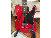 2010 Fender Thinline JA-90 JA90 'Jim Adkins' Signature Telecaster Guitar - Crimson Red