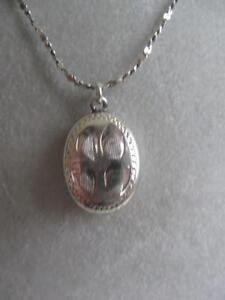 OLD VINTAGE 19-INCH ITALIAN STERLING SILVER [STAMPED ] PENDANT NECKLACE