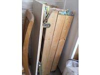 wooden loft ladder and hatch