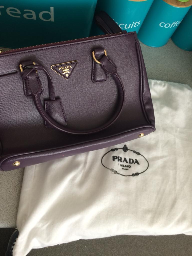 Prada Handbag Purple Comes With Dust Cover Designer