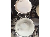 Tama imperialstar 5 piece with 22 inch bass drum and double pedal.