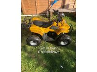 110 quad bike good condition