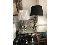 New table lamps £10 each from Dukes furnishings in Dennistoun