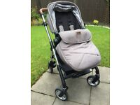 Silver Cross wayfarer chelsea pushchair and carrycot