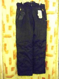 Ladies Peak Mountain Padded Ski Trousers. Black – Size 16