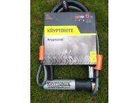 Kryptonite Series 2 Bike U-Lock with 4 foot Kryptoflex cable