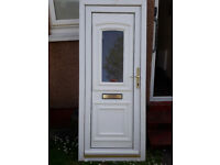 UPVC White Exterior Door with Window