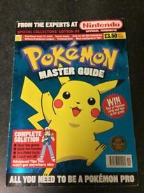 Pokemon master guide #1 1999 (Rare)