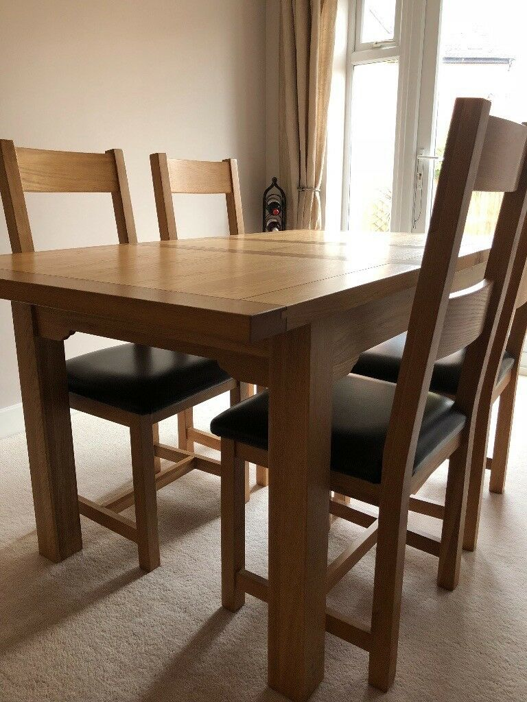 Extendable Dining Table 4 Chairs To Sell ASAP Open All Offers