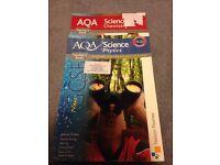 AQA physics and chemistry teacher answer books