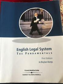 English legal system: the fundamentals (first edition). Jo Boykin-Kemp