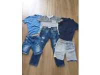 Next & Zara Boys Age 7 Tops Tshirts Shorts Jeans 6 items clothing bundle excellent condition
