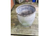 Antique vintage galvanised Peggy/dolly tub