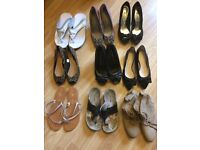 9 pairs of shoes new and used