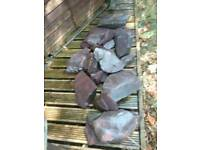 Mixed slate stone ideal for rockery