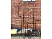 Metal Garden Gate. 6ft tall by 2.5ft wide.
