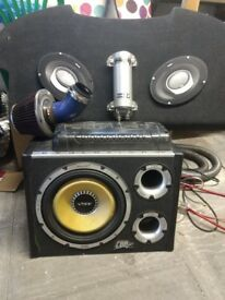 Vibe 1600w sub built in amp and extras