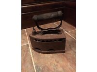 Vintage Antique Cast Iron Coal Iron Door Stop from Russia