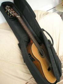 Real classic acoustic Crafter guitar with electro facility, for concerts or gigs, with gig bag !