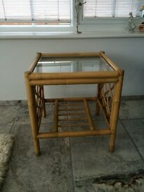 Square Tea Table with Glass