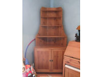 Corner Unit, Display Cabinet and Writing Desk all Matching