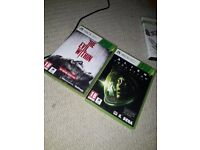 The Evil With and Alien Isolation For Sale (XBox 360)