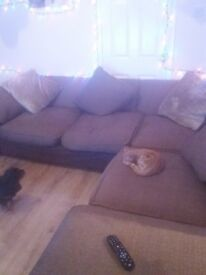 for sale a large corner sofa with matching 2 seater