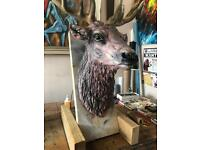 Resin stags head