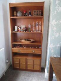 G-Plan mahogany display/Book unit