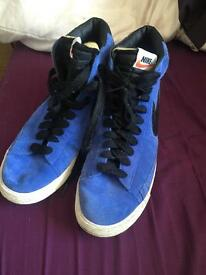 Size 9 blue and black Nike blazers