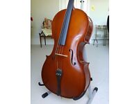 Cello, full size, would suit beginner. With stand.