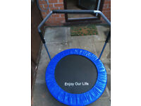Unused - INDOOR AND OUTDOOR MINITrampoline children aged 4-12 & for adult rehabilitation exercises.