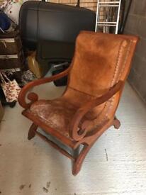 Beautiful oak & leather chair