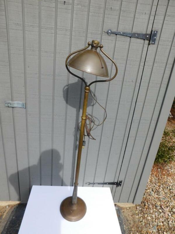 ANTIQUE BRADLEY & HUBBARD ADJUSTABLE FLOOR HARP LAMP ARTS AND CRAFT HOME DECOR