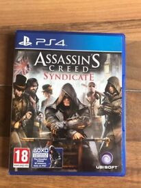 assassins creed syndicate & unused dlc , ps4 ! price stands , no offers !