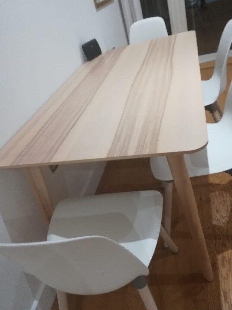 Ikea Leifarne Lisabo Table 4 Chairs