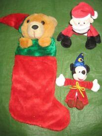 Brand New Mickey Mouse Magician, Santa+ Christmas Bear with Christmas Stocking for £5.00 - BAG THREE