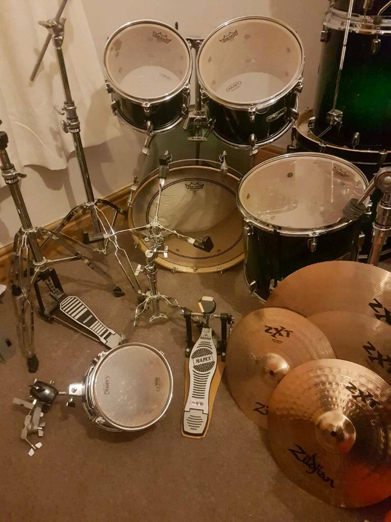 Mapex M Birch drum kit with Zildjian Cymbals