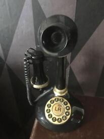 retro push button 1980s telephone