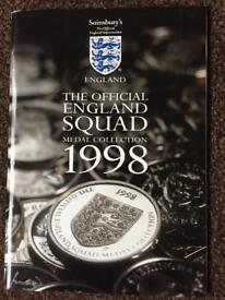 England Football 1998 Medal Collection